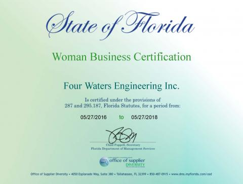 4Waters OSD Woman Business Certification