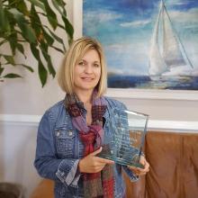 Angela Bryan, President of Four Waters Engineering, FSAWWA Award